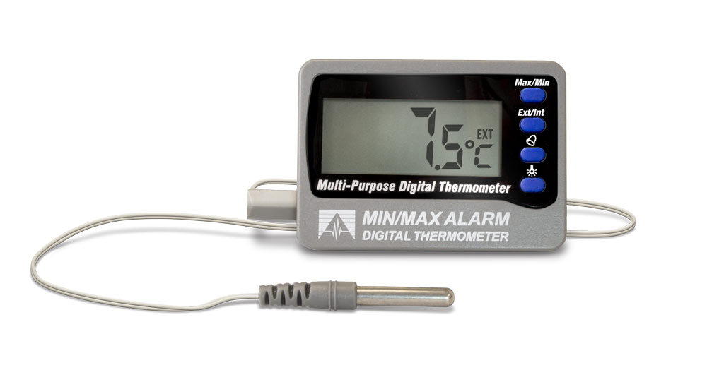 Min/Max Alarm Digital Thermometer