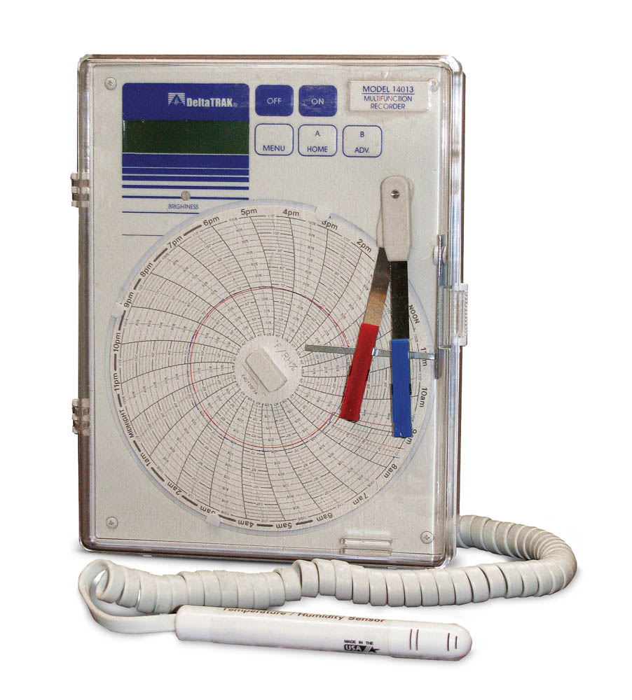Temperature/Humidity/Dew Point Circular Chart Recorder