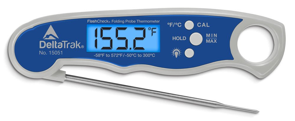 FlashCheck Waterproof Min-Max Folding Probe Thermometer