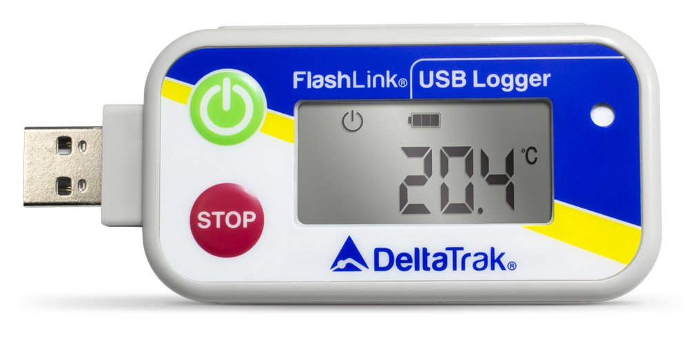 FlashLink USB Reusable Data Logger, Internal Temperature & Humidity Sensor