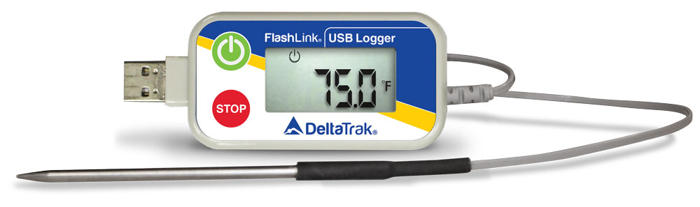 FlashLink Reusable USB Data Logger with External Probe