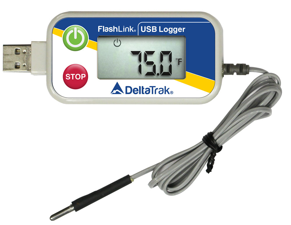 FlashLink Reusable USB Data Logger with External Probee