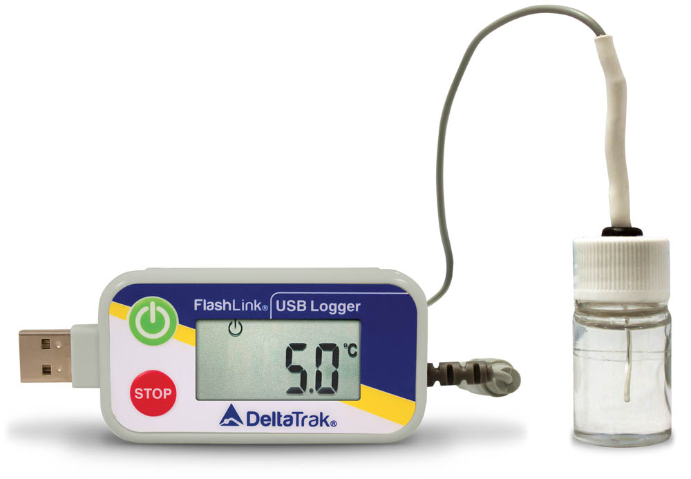 FlashLink Certified Vaccine Data Logger with Glycol Bottle (WHO prequalified)