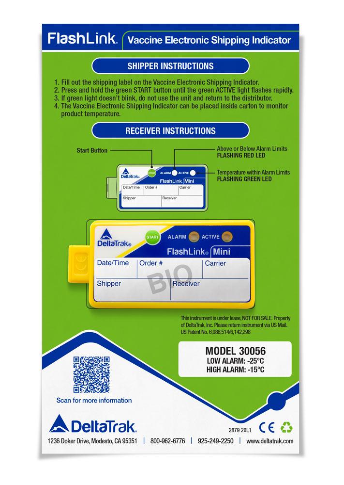 FlashLink<sup>?</sup> Vaccine Electronic Shipping Indicator0