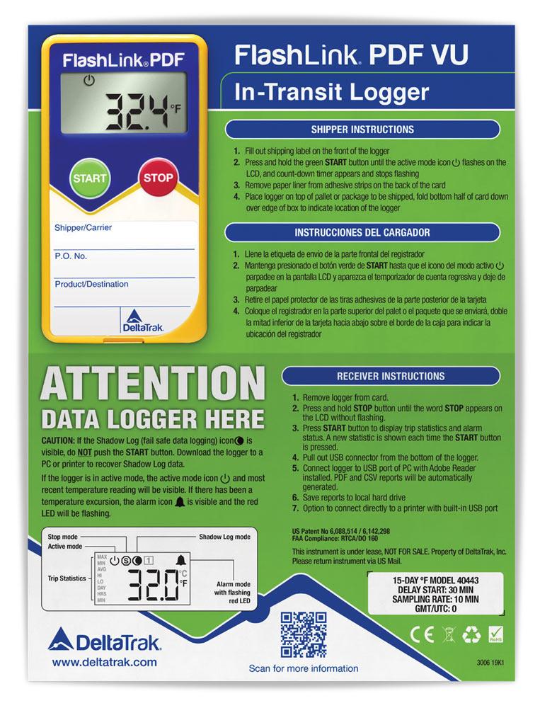 FlashLink PDF VU In-Transit Logger