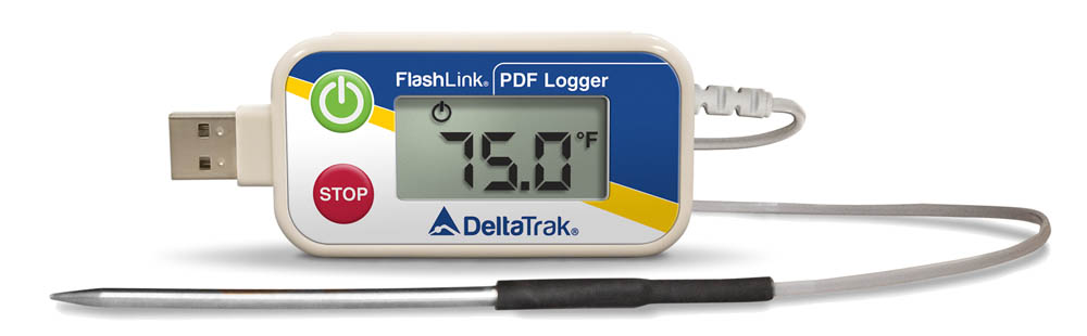 FlashLink  USB PDF Reusable Data Logger with External Sharp Tip Probe, Model 40515