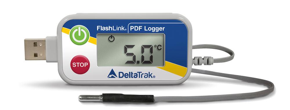 FlashLink USB PDF Reusable Data Logger with External Blunt Tip Probe, Model 40520