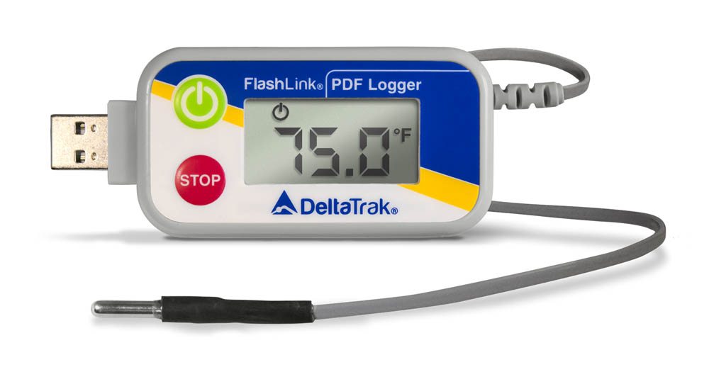 FlashLink USB PDF -80°C Reusable Data Logger with External Blunt Tip Probe, Model 40530