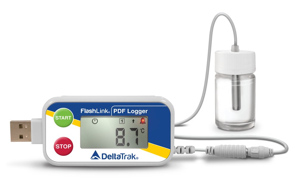 FlashLink Certified Vaccine PDF Data Logger with Glycol Sensor