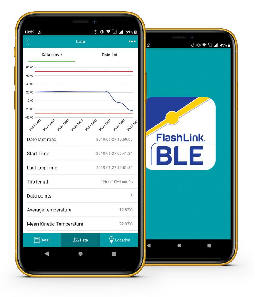 FlashLink® In-Transit BLE Smartphone App