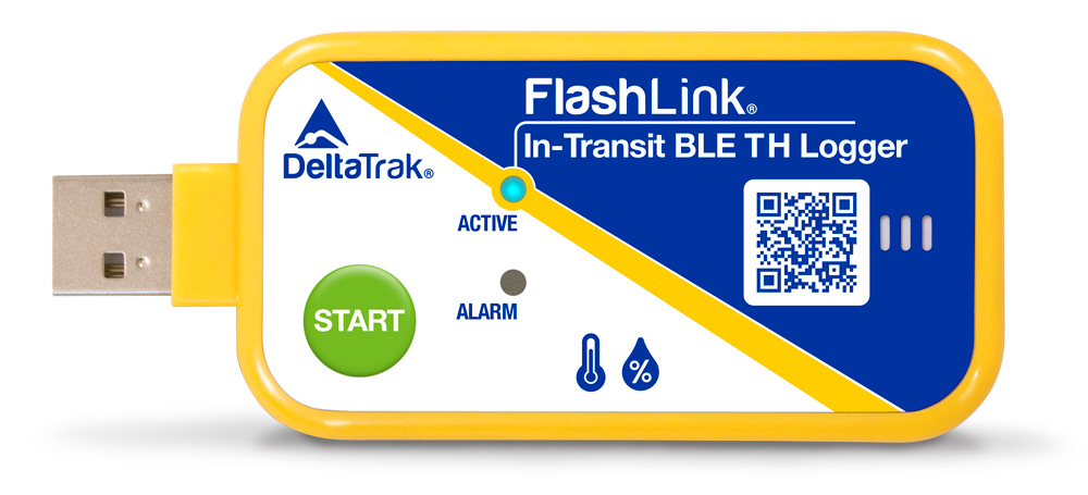 FlashLink In-Transit BLE Temperature and Humidity Logger