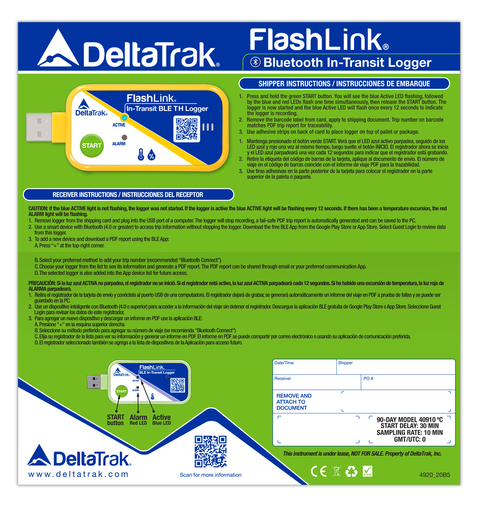 FlashLink Mini In-Transit Logger