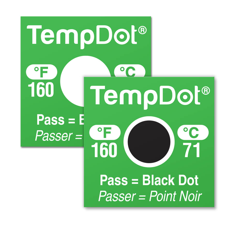 TempDot High Temperature Dishwasher Thermal Labels