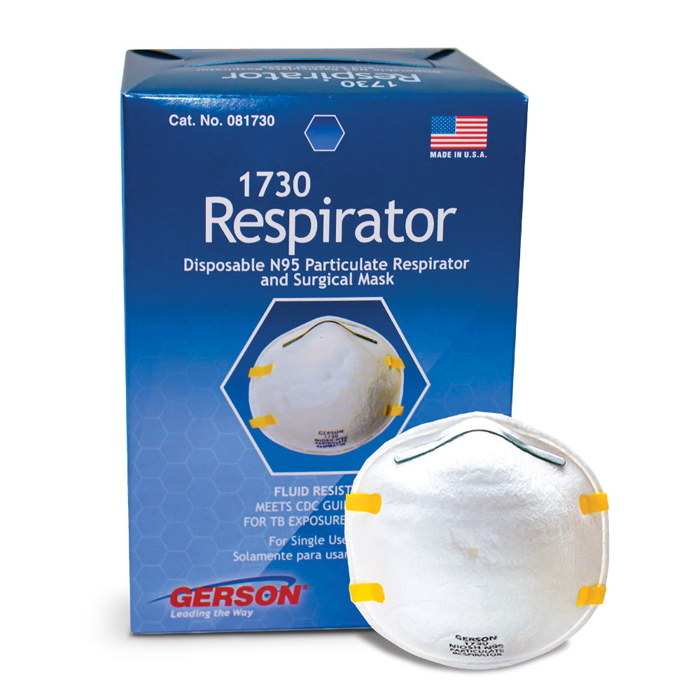 Gerson 1730 N95 Particulate Respirator Mask