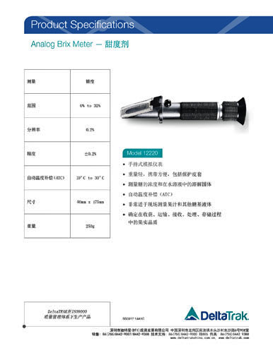 Analog Brix Meter Sugar Refractometer