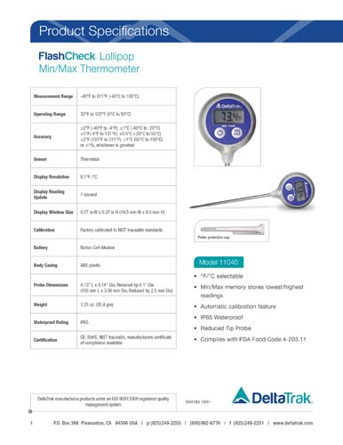 FlashCheck Lollipop Min/Max Thermometer