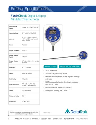 FlashCheck Digital Lollipop, Min/Max Probe Thermometer