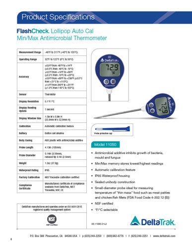FlashCheck Waterproof Lollipop Min/Max Thermometer