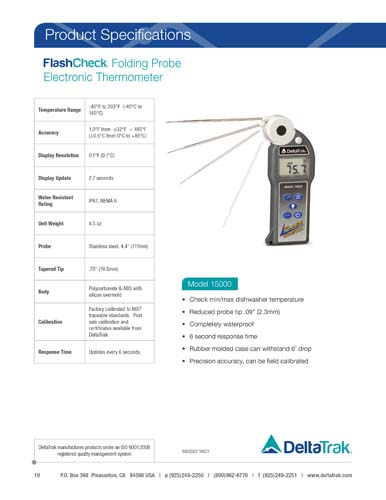 FlashCheck Folding Probe Electronic Thermometer