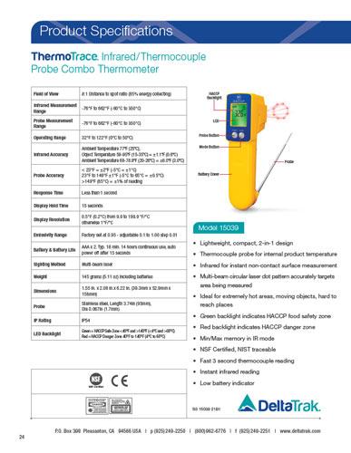 Thermotrace Infrared Thermocouple Probe Combo Thermometer Modelo 15039 Deltatrak Mexico 85,131 likes · 128 talking about this. infrared thermocouple probe combo