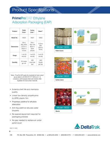 PrimePro EAP Ethylene Absorption Packaging [EAP]