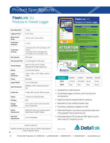 FlashLink VU Universal Produce Data Logger
