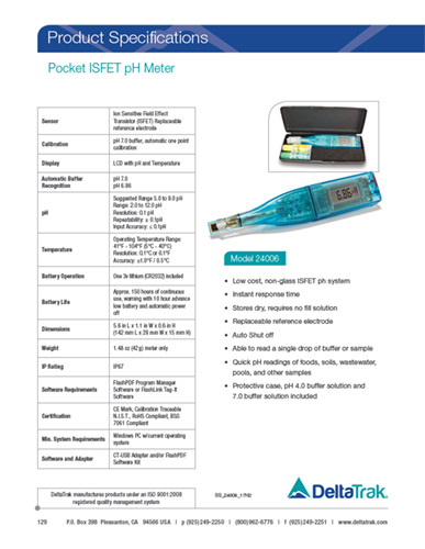 Pocket ISFET pH Meter