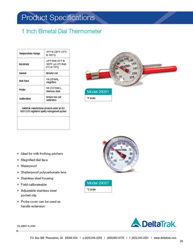 Pocket Dial Thermometers
