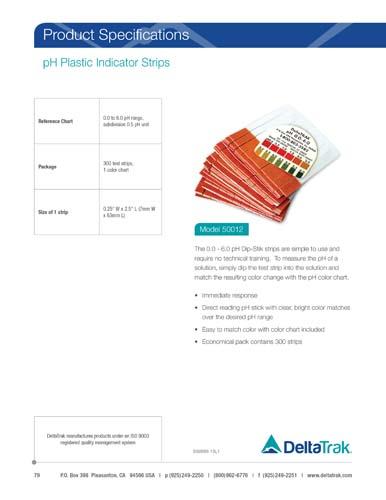 pH Plastic Indicator Strips