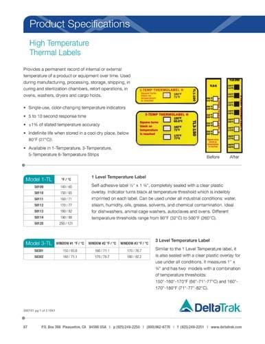 High Temperature Thermal Labels