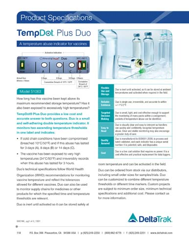 TempDot Plus Duo Label