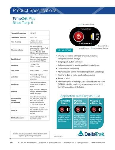 TempDot Plus Blood Temp 6