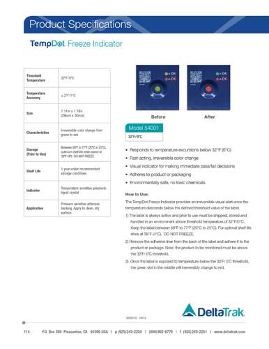 TempDot Freeze Indicator