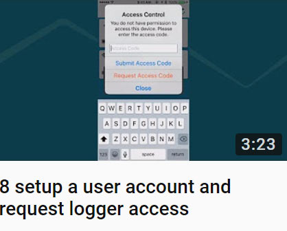 8 setup a user account and request logger access