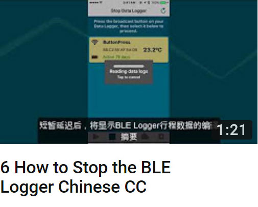 6 how to stop the BLE logger