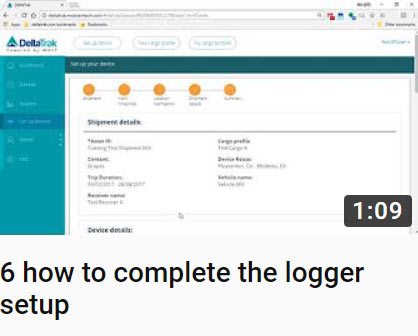 6 how to complete the logger setup